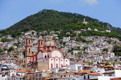 City of taxco I. View of the city of taxco, mexican capitol of the silver, located in guerrero, mexico Royalty Free Stock Photos