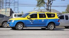 City taxi chiangmai stock video footage