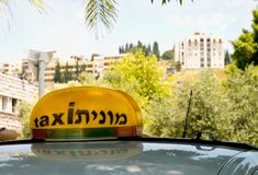 City taxi. Nazareth in Israel Royalty Free Stock Image