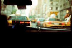 City Taxi Public Taxometer Royalty Free Stock Photos