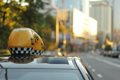 City taxi Stock Image