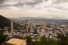 City Tbilisi Georgia panoramic view Stock Image