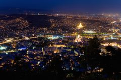 City of Tbilisi from a height. Stock Photography