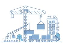 City technical project poster Royalty Free Stock Photo