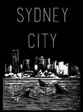 City Tee graphic design sydney city Stock Photography