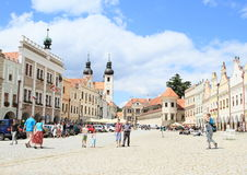 City Telc with castle stock photo