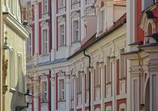CITY TENEMENTS. Landscape of a fragment of the old city in Poznan Stock Photo