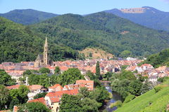 The city of Thann, Alsace Stock Image