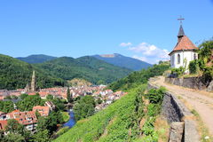 The city of Thann, Alsace Stock Photo