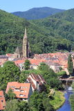 The city of Thann, Alsace Royalty Free Stock Photo