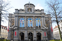 City theatre. The theatre of Bruges was built 1869 and it is one of Europe's best preserved city theatres stock image