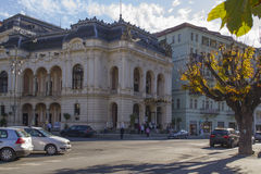 City Theatre in Carlsbad. Karlovy Vary (Carlsbad) is world famous Royalty Free Stock Images