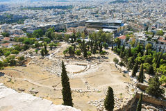 City and Theatre of Dionysus, Athens Stock Photography