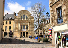 City Theatre, May 4, 2013 in Fougeres, France. Royalty Free Stock Photography