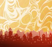 City theme background. Drawing Royalty Free Stock Photos