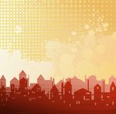 City theme background. Drawing Royalty Free Stock Images