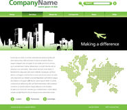 City theme web template Stock Photography