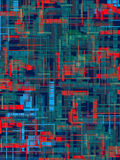 City thermogram. Thermogram of a city the top view, hot and cold sites Royalty Free Stock Images