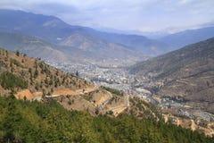 The city of Thimphu, Bhutan Stock Photos