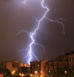 City Thunder. In a summer storm Stock Photo