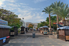 City of Tiberias life on the streets: people, cars on the street Royalty Free Stock Images