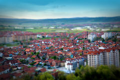 City. Tilt-shift effect. Royalty Free Stock Image