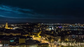 City time-lapse stock video footage