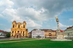 City of Timisoara in Romania. Timisoara is the third largest city in Romania, often nicknamed Little Vienna Royalty Free Stock Photos