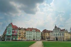 City of Timisoara in Romania. Timisoara is the third largest city in Romania, often nicknamed Little Vienna Stock Image
