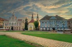 City of Timisoara in Romania. Timisoara is the third largest city in Romania, often nicknamed Little Vienna Stock Photos