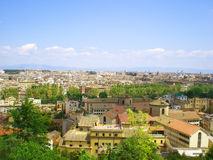 The city to horizon. Italy Rome - a city panorama is stretched to horizon Royalty Free Stock Image
