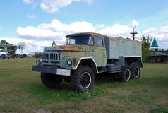 City of Togliatti. Technical museum of K.G. Sakharov. Exhibit of the museum ZIL-131 truck. City of Togliatti. Samara region. Russia.29 of August, 2015. AVTOVAZ stock photo