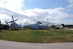 City of Togliatti. Technical museum of K.G. Sakharov. Exhibit of the museum Soviet heavy multi-purpose transport Mi-6 helicopter. City of Togliatti. Samara Stock Photos
