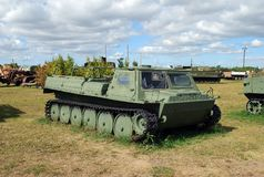 City of Togliatti. Technical museum of K.G. Sakharov. GT-SM GAZ-71 Soviet caterpillar conveyor. City of Togliatti. Samara region. Russia.29 of August, 2015 stock photo