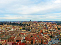 City of Toledo in Autumn. Aerial View of the City of Toledo from The Alcázar of Toledo in Autumn Royalty Free Stock Photos