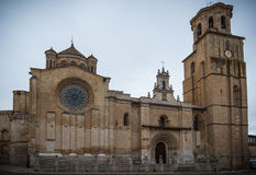 City of Toro. Collegiate church of Bull, of Romanesque style Royalty Free Stock Images