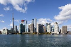 City of Toronto skyline, Canada. Skyline of Toronto downtown. Province of Ontario, Canada stock images