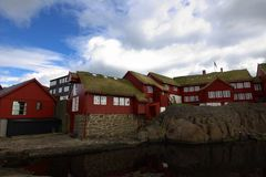 The city of Torshavn in the Faroe Islands Stock Photography