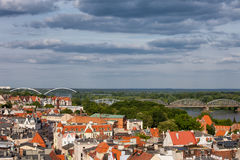 City Of Torun From Above Royalty Free Stock Photography