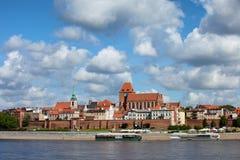 City of Torun Skyline in Poland Stock Photo
