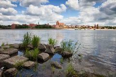City of Torun Skyline in Poland from Vistula River Royalty Free Stock Photo