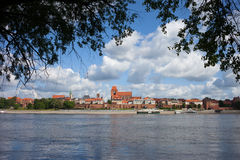 City of Torun and Vistula River in Poland Royalty Free Stock Photography