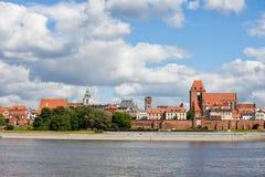 City Of Torun From Vistula River Royalty Free Stock Images
