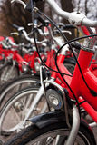 City tour bicycles Royalty Free Stock Photo