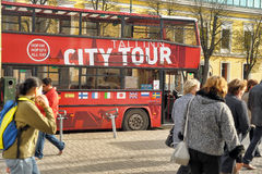 City Tour Bus Stock Photography