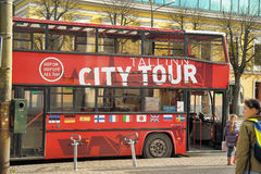 City Tour Bus Stock Photo