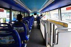 City tour bus stock photo