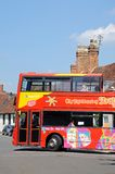 City tour bus, Stratford-upon-Avon. Royalty Free Stock Photography