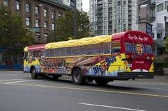 City tour tourist bus Stock Image