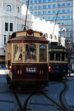 City Tour Trams. In the central city of christchurch,New Zealand Royalty Free Stock Images